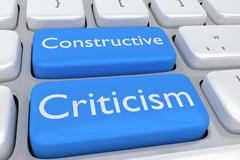 Constructive Criticism concept Stock Illustration