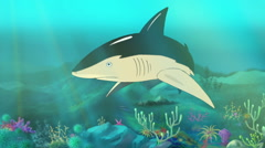 Shark Attack - stock footage