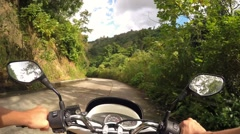 Driver Riding Motorcycle on the Road Stock Footage