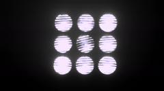 Neon White Stadium Spot Lights - 1 - stock footage