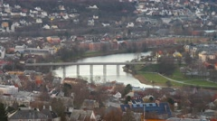 New Bridge in Trondheim, Norway Stock Footage