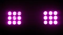 Neon Pink Stadium Spot Lights - 6 - stock footage