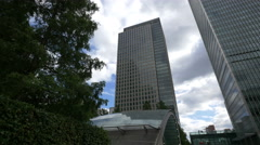 Jubilee station in Canary Wharf, London - stock footage