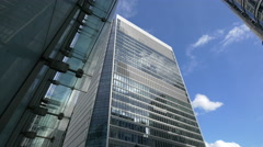 Glass tower in London - stock footage