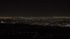 Downtown Los Angeles at night - WIDE (UNGRADED) Stock Footage