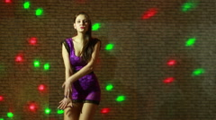 Beautiful sexy girl dancing go go Stock Footage
