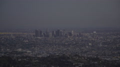 Downtown Los Angeles before sunset (UNGRADED) Stock Footage