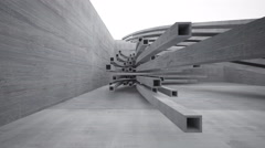 Empty dark abstract concrete room interior. 3D rendering.  - stock footage