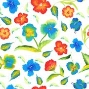 Abstract elegance spring seamless pattern with watercolour floral background Stock Illustration