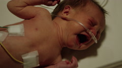 Crying Baby in Hospital ICU Stock Footage