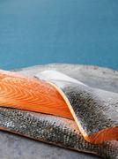 Close up of salmon filets - stock photo