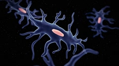 The isolated osteocyte - cell Stock Footage