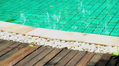waterside of the swimming pool - stock footage