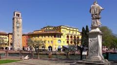 4K footage recorded on April 2015, in Riva del Garda, at Lake Garda in Italy Stock Footage