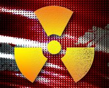 Nuclear danger background - stock illustration