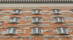 Wall of the National and University Library in Ljubljana Stock Footage