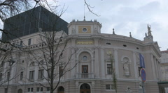 Left wing of National Opera, Theater and Ballet in Ljubljana Stock Footage