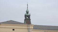 Tower of the Ljubljana University building in Ljubljana Stock Footage