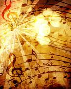 Old music sheet Stock Illustration