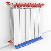 Radiator. Directional arrows Convention Stock Illustration