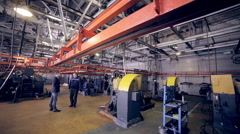 Workers on Modern plant, industrial factory inside Arkistovideo