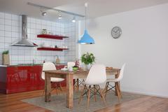 3d - modern kitchen interior Stock Illustration