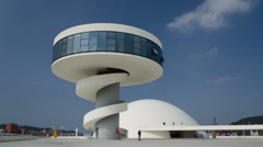 Niemeyer Cultural Centre. Modern architecture Stock Footage