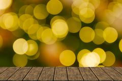 Defocused christmas bokeh light for background Stock Illustration