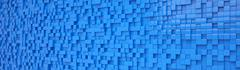 abstract background - cubes - blue - stock illustration