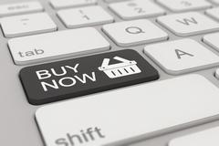 keyboard - buy now - black - stock illustration