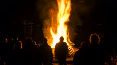 Easter bonfire, time lapse Stock Footage