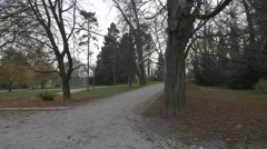 Alleys in Tivoli Park in Ljubljana Stock Footage