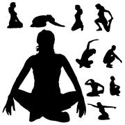 Vector silhouette of a people. - stock illustration