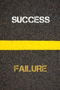 Antonym concept of FAILURE versus SUCCESS - stock photo