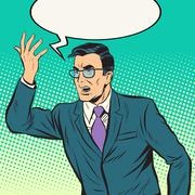 speaker politician man - stock illustration