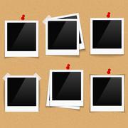 Photo Frames on Bulletin Board - stock illustration