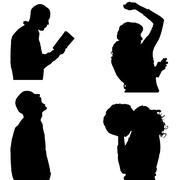 Stock Illustration of Vector silhouette of people.
