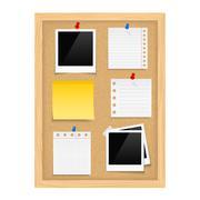 Bulletin Board - stock illustration