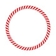 Candy Cane Circle Stock Illustration