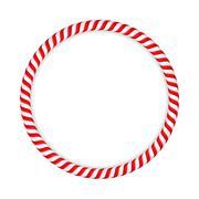 Candy Cane Circle - stock illustration