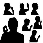 Vector silhouette of woman. Stock Illustration