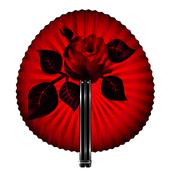 fan and rose - stock illustration