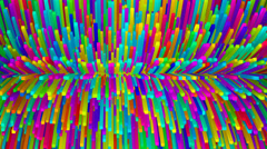 Turning colorful long cubes. Stock Footage