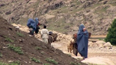 Badakhshan, rural people, Afghanistan.mp4 Stock Footage