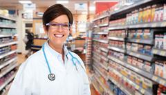 Mature medical doctor woman. Stock Photos