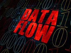 Information concept: Data Flow on Digital background Stock Illustration