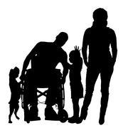Vector silhouette of family. Stock Illustration