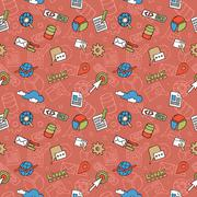 SEO Doodle Pattern - stock illustration