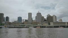 Brisbane Cityscape River , Queensland , Australia 4K Stock Footage