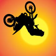Vector silhouette of extreme jumps. Stock Illustration